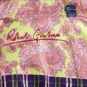 Robert Graham Shirts - Robert Graham Flip Cuff XL Shirt